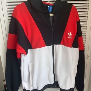 Adidas Hooded Jacket with Pockets